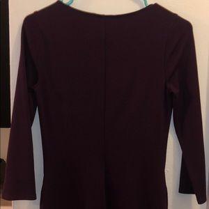 Express Dresses - Express body con burgundy two zipper front dress
